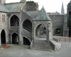 escalier chateau de vitre