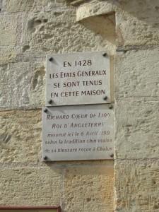 panneau maison ou mourrut Richard Coeur de Lion