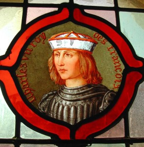 vitrail portrait charles VII Loches