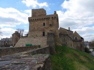 Ruines médiévales du chateau de chateaubriant en Bretagne