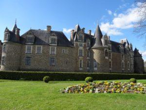 Aile renaissance du chateau de chateaubriant en bretagne